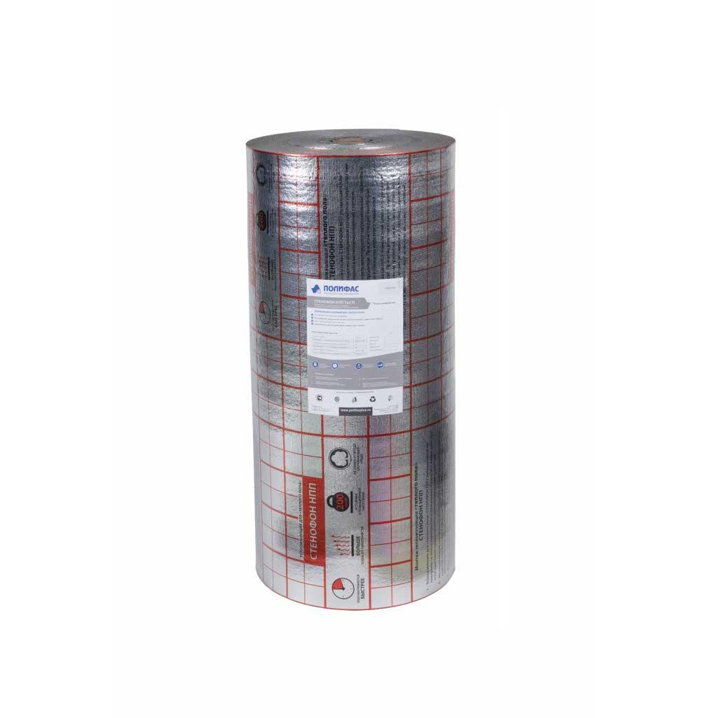 Подложка из вспененного полипропилена Стенофон НПП тип П 4 мм