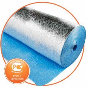 Утеплитель отражающий самоклеющийся для вентиляции Пенофол тип С 5 мм